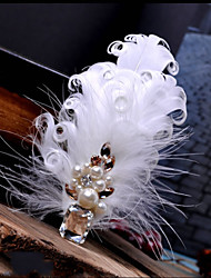 Hand Made Wedding Feather Hair Clip Fascinator Headpieces Fascinators 013