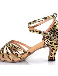 Zapatos de baile (Plata/Oro/Leopardo) - Salsa - No Personalizable - Tacón Cubano