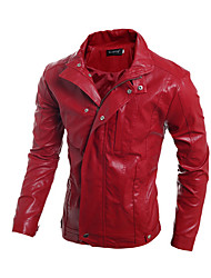 Men's Long Sleeve Jacket , Others Casual Pure