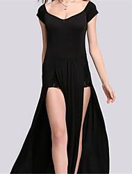 Women's V-Neck Dresses , Chiffon Sexy/Casual Sleeveless YaYiGe