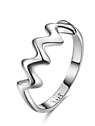 Fine Jewelry European and American Fashion  Personality Exaggerated Sawtooth 925 Sterling Silver Wedding Rings for Women