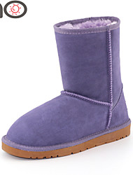 MO Genuine Leather Boots Winter Warm Snow Boots Winter Shoes Women's Suede Snow Fashion Warm Soft and Comfy Boots