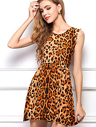Women's Casual Print Sleeveless  Dress