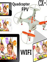 CX-30W drone wifi - iphong puhelinohjaus reaaliaikainen lähetys keskellä drone kanssa 0.3MP kamera ja 2 kpl 700mAh akut