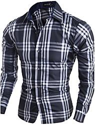 Men's Designer Casual Paid Dress Shirt