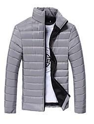 Men's Coats & Jackets , Cotton Long Sleeve Bodycon/Casual YYZ