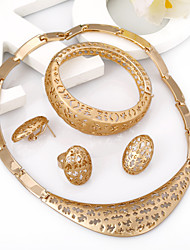 Dubai Gold Jewelry  Gold Plated Jewelry Set Beautiful Necklace Set For Mother of the Bridal