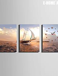 e-home® barco à vela relógio em 3pcs lona