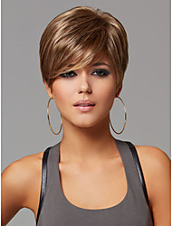 New Light Brown Mix Short Straight Women's synthetic Hair wig