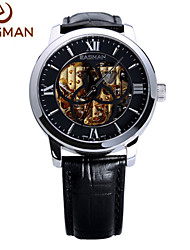 EASMAn Men Watch Skeleton Genuine Leather Roma Classic Automatic Machine Self-winding Big Clock Luxury Men WristWatch