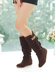 Women's Shoes Knee High Boots Solid Round Toe Less Platform Shoes 3 Colors