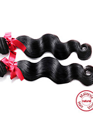 EVET Hair Malaysian Virgin Hair Body Wave Human Hair Extensions Malaysian Hair Weave Bundles Natural Color 2pc/lot