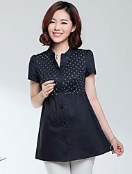 Women's Blouse , Cotton Short Sleeve