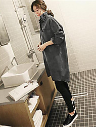 Women's Black Denim Top , Casual Long Sleeve