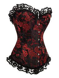 Formwäsche (azul/rojo , Poly-Baumwolle , Schleidenbänder/Print) - für Hochzeit/Besondere Anlässe/Informal - Shapewear Tops
