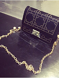 Women's The New Diamond Pearl Chain Rivet Bag Ladies Wind