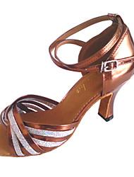 Customized das mulheres couro sintético Dance Shoes Para Latina e Salsa