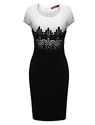 A.H.W  Women's Round Dresses , Lace Sexy/Casual Sleeveless