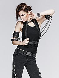 PUNK RAVE S-153 Women PU Waist Belt , Vintage/Party/Casual Alloy