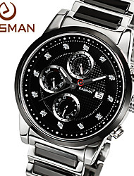 EASMan Brand Men Watch Men Black Ceramic Watch Quartz Watch Luxury Sapphire New Fashion Style Men Watches Wristwatches