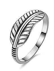 Fine Jewelry Retro Fashion Charms 925 Sterling Silver Leaf Ring Jewelry For Women ,High Quality