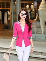 Women's ¾ Sleeve Blazer , Cotton Regular Casual/Party/Work