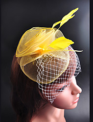 Fashion Style Flower Feather Cloth Hat(Randon Color)(1Pc)