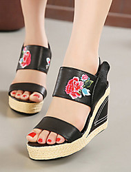 Women's Shoes Wedge Heel Wedges/Platform Sandals Casual Black