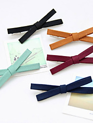 Set Of 6 Korean Cloth Butterfly Hairpin
