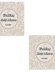 Personalized Wedding Tags Address Labels Envelope Sticker Silver Pattern Of Filmed Paper