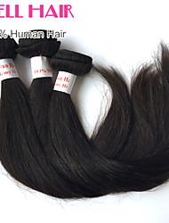 3pcs muito peruana tramas do cabelo retas comprimento mix 8-30 polegadas virgem extensões de cabelo humano # 1b cor