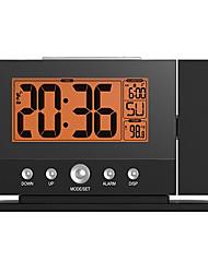 nuovo allarme ha condotto l'orologio con la proiezione a parete di temperatura soffitto retroilluminazione arancione orologi di