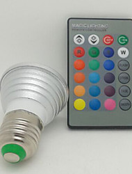 E27 3W RGB Color Spotlights LED Colorful Remote Control Spotlights