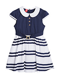 Jijile Kids Summer Girls Princess Dress Girls Dress striped short sleeved summer 2015