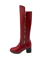 Women's Shoes Low  Heel Round Toe Knee High  Boots  More Colors available