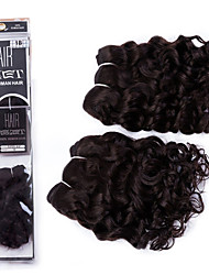 "EVET Brazilian Hair Bundles Super Wave #1B Virgin Hair Weaves Hair Weft Unprocessed Hair 2pcs 8"" 105g/lot New Arrival"