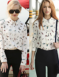 Women's Shirt Collar Casual Shirts , Others Sexy/Beach/Casual/Cute/Party Long Sleeve Cathy