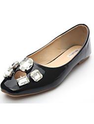 Women's Shoes Flat Heel Square Toe Flats Casual Black/White