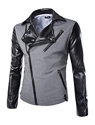 Men's Long Sleeve Long Blazer Pure