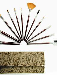 12Pcs Makeup Brushes Professional Cosmetic Make Up Brush Set