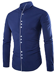 Chemises informelles ( Coton ) Informel Col chemise à Manches longues