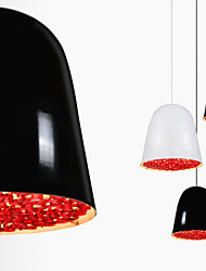 Flower Pendant Lamp/1 Light/Classical/Modern Simplicity/Black & Red /White & Red/Aluminum & Acrylic Droplight