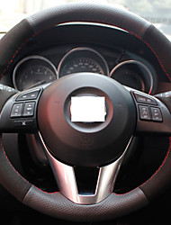 xuji ™ черный натуральная кожа замша руль чехол для 2013-2015 Mazda CX-5 Mazda 6 CX5 Atenza Mazda 3 Axela