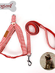 Cães Arreios / Trelas / Coleira Com Deslize Retratável Vermelho / Azul Téxtil / Náilon