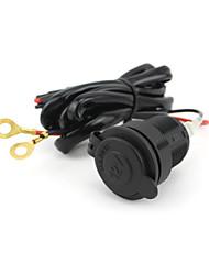 Car Motorbike Motorcycle Cigarette Lighter Power Plug Socket 12V USB Car Charger