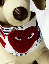 Cani Collari Rosso Vera pelle / Tessuto