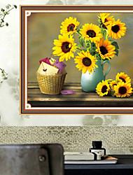 DIY Kit алмазов вышивки крестом, цветочные 80 * 66