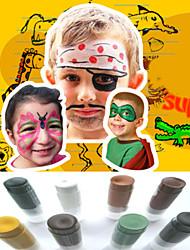 Halloween visage peint visage du parti face déco ensemble de maquillage (8 couleurs un ensemble)