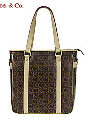 Kate & Co.® Femme PVC Sac à Bandoulière Gris - TH-02233