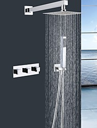 Shengbaier® Contemporary Shower Faucet with 8 inch Shower head + Hand Shower